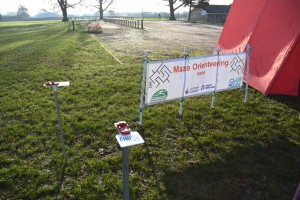 Sign for Maze Orienteering at Hardenhuish