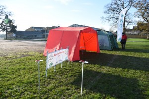 Tents Ready for Hardenhuish TryO