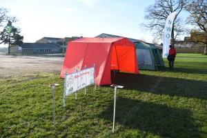 Tents Ready for Hardenhuish TryO