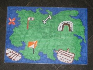 Treasure Island Map Hardenhuish Try O