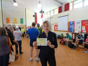 Adell with W55 winners certificate